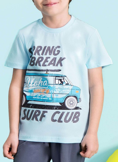 Roly Poly Rolypoly Surf Club Erkek Çocuk Bermuda Takım Mavi